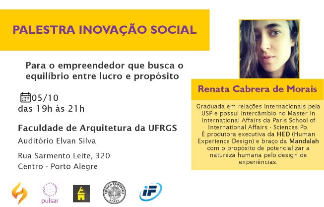 PalestraInovaçãoSocial-RenataCabreraDeMorais