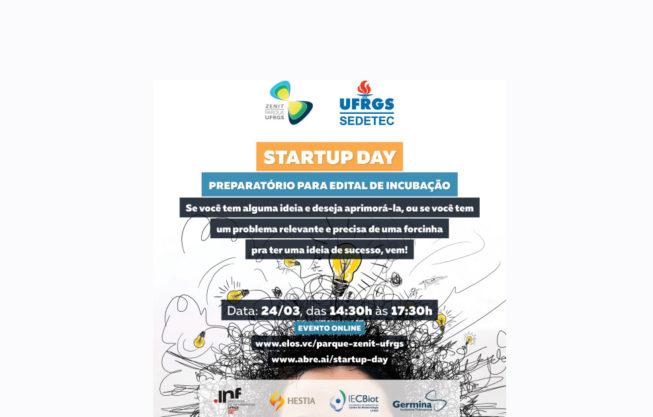 Mudança no local e horário do evento Startup Day