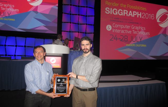 PhD Thesis wins ACM SIGGRAPH Award