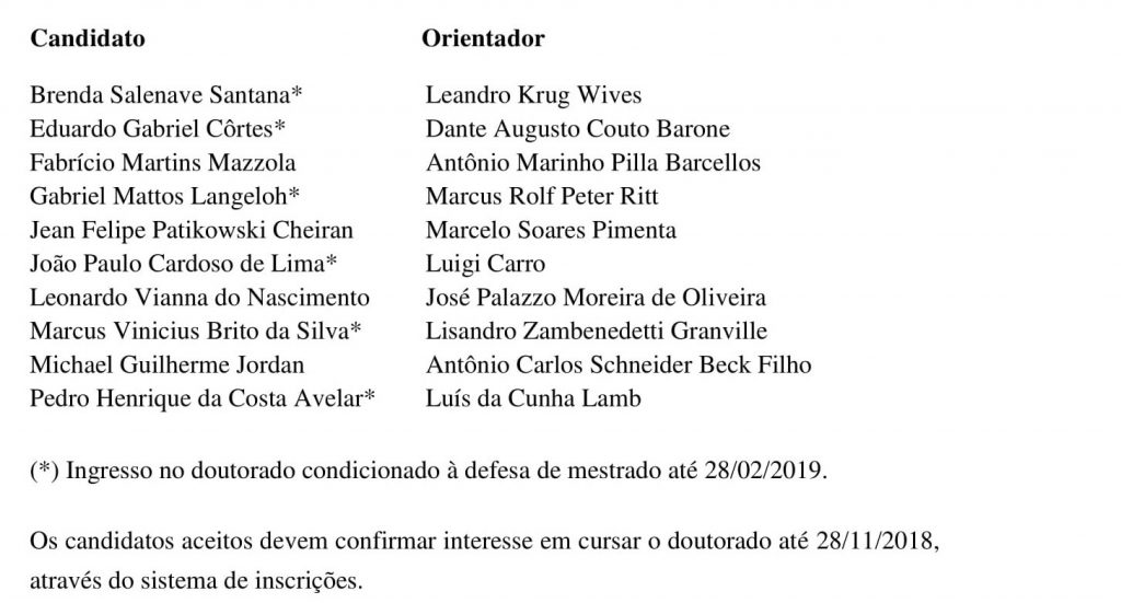 Seleção doutorado 2019-1-1
