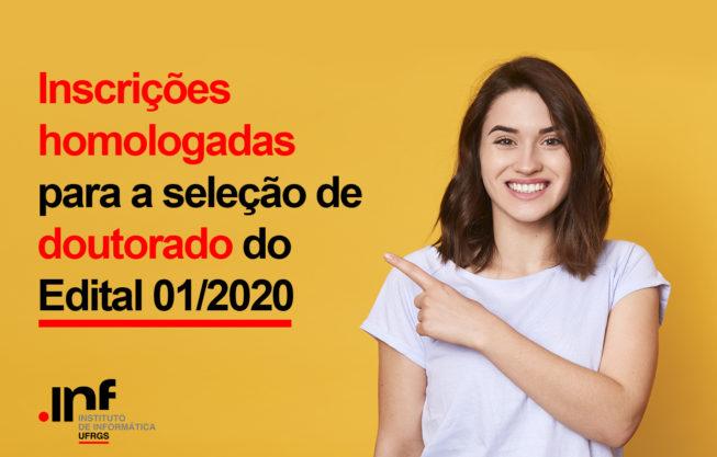 Inscrições homologadas - Doutorado 01/2020