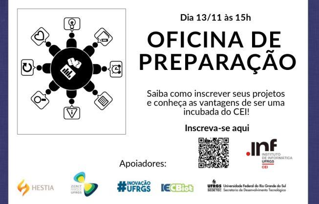 Inscrições abertas para Oficina de Preparação no CEI