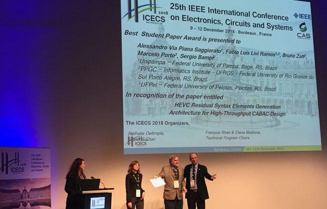Artigo do INF é premiado no ICECS 2018