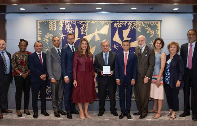 Handover of the Report of the High-level Panel on Digital Cooperation to Secretary General Antonio Guterres.