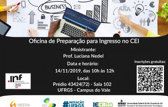 Dia 14/11 tem oficina de preparação no CEI
