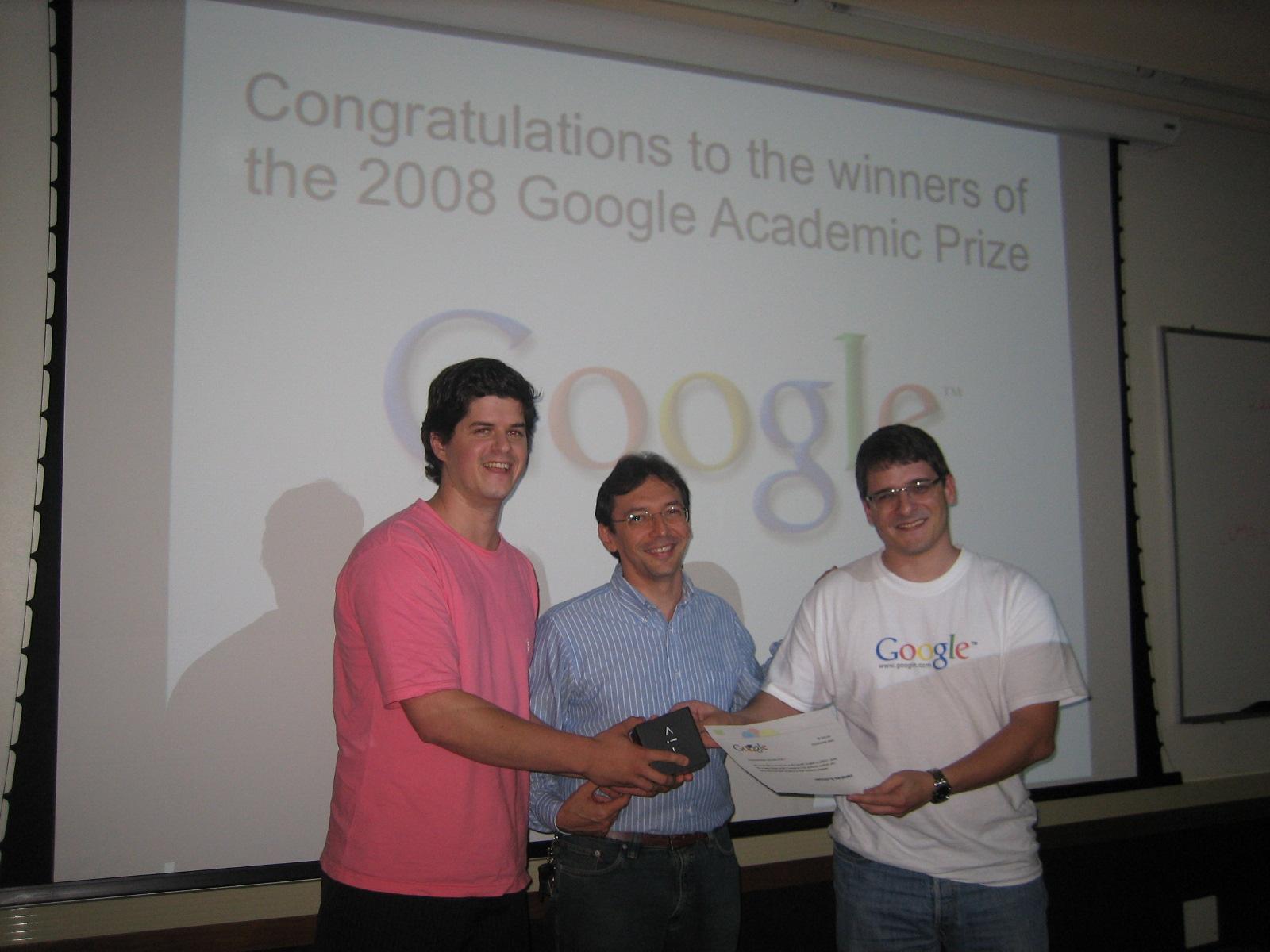 Kuhn's 2008 Google Academic Prize